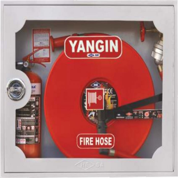 Recessed Mounted Glass Lid Fire Cabinet - CK 70 x 85 x 21
